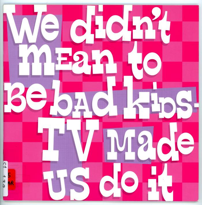 Warrington Museum & Art Gallery, We didn't mean to be bad kids - TV made us do it, (United Kingdom, 2004)