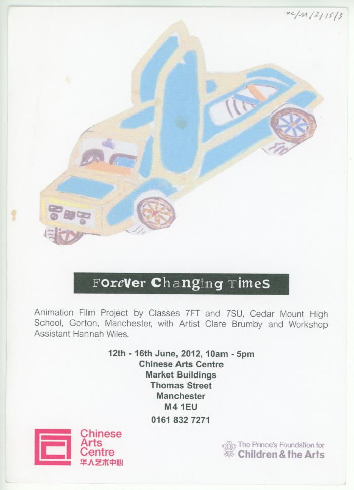 OC/M/3/15/3: Flyer 'Forever Changing Times'