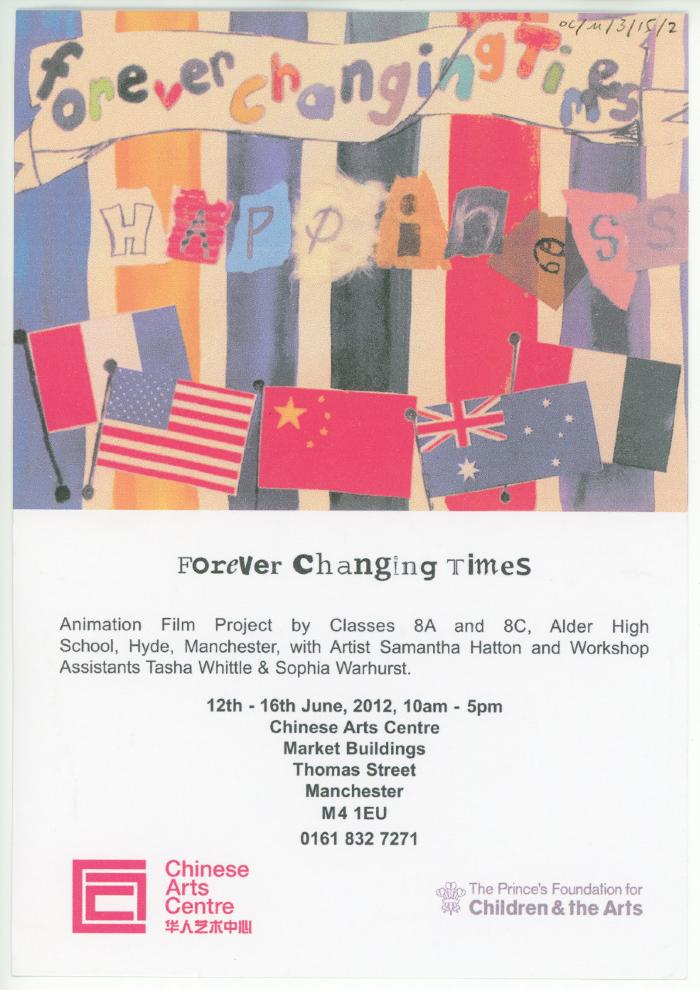 OC/M/3/15/2: Flyer 'Forever Changing Times'