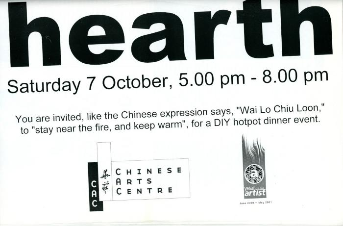 OC/6/2/20/5/45: Poster for 'Hearth' event
