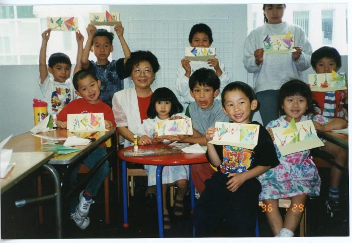 Photograph: Mary Tang origami workshop group photo