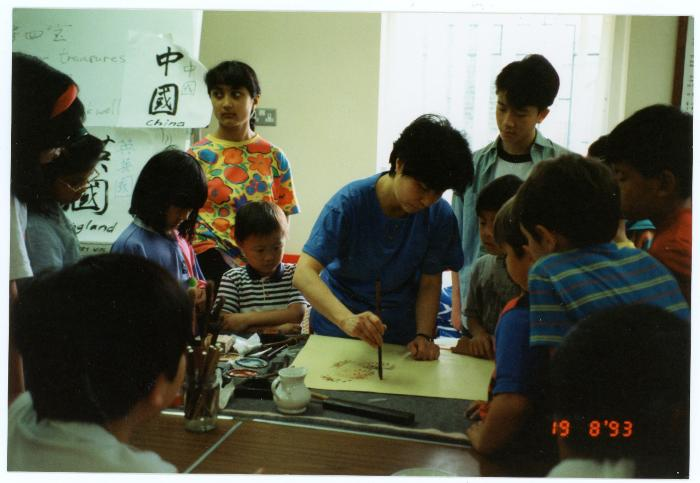 Photograph: Chinese painting workshop